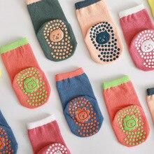0-5years Spring Summer Anti-slip Socks newborn Trampoline for baby boys Girls Gymclass Floor Sock Dispensing Glue Cute Cartoon