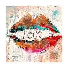 Diamond Mosaic Full Drill 5D Rhinestone Love in Lips Kits Art Hobby Kits Art