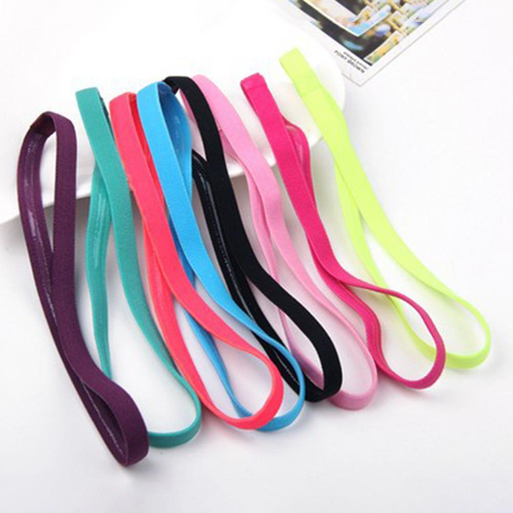 Yoga Hair Bands Women Sweatbands Anti-slip Elastic Rubber Football Running Sports Headband For Men Hair Accessories Head Band
