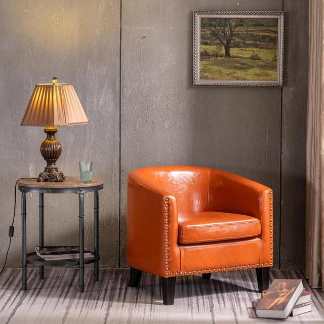 Circle Chair w/ Copper Nails 5