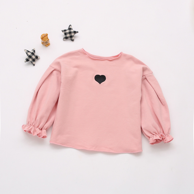 Baby Toddler Little Girls Cotton Longsleeve Tee Shirt Auttumn Sweater Tops