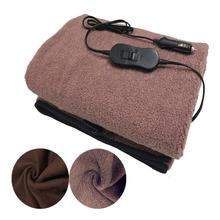 145*100cm Car Electric Heating Blanket Teddy Solid Fleece Winter Heated For Truck RV Traveling Constant Temperature