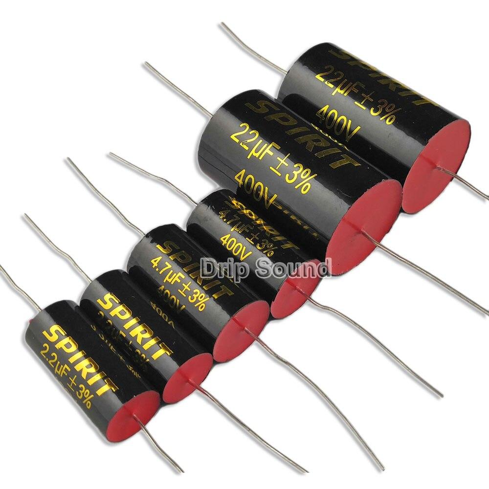 2PCS 1.5-22uF 400V Speaker Divider Crossover Car Tweeter Non-Polarity Capacitor