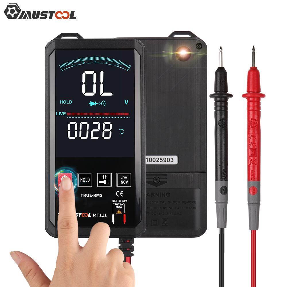 Цифровой мультиметр Mustool MT111 с сенсорным экраном 6000 отсчетов цифровой профессиональный мультиметр тестер Вольтметр переменного тока постоянного тока Аналоговый Тестер|Мультиметры|   | АлиЭкспресс