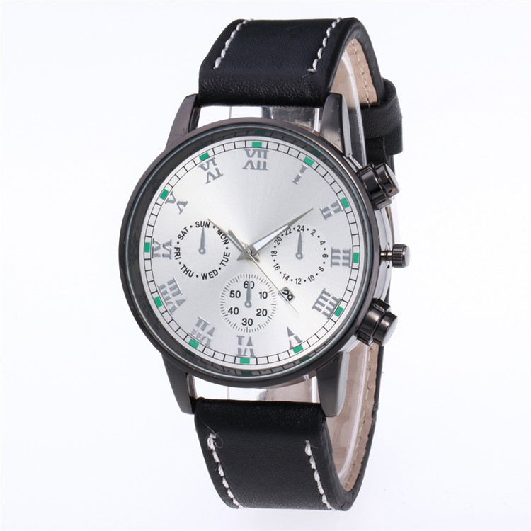 Minimalist Fashion Belt Watch Multicolor Face Dial False Eye Six Stitches Personality Scale With The Calendar Watch