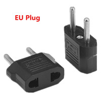 100pcs US To EU Euro AC Travel Power Adapter 2 Pin European Type C Plug Adapter Electrical Converter Outlet Charger Sockets
