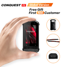 CONQUEST F2 Mini IP68 Rugged Mobile Phone Fingerprint Face ID Android 8.1 4G LTE