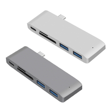 USB C Hub 5 in 1 Type C to SD/TF Card Reader USB 3.1 HUB Adapter high speed for MacBook Air Pro Huawei Xiaomi Samsung new 3 in 1 card reader usb camera connection hub for u disk sd tf for ipad mini 4 5 air usb hub card reader