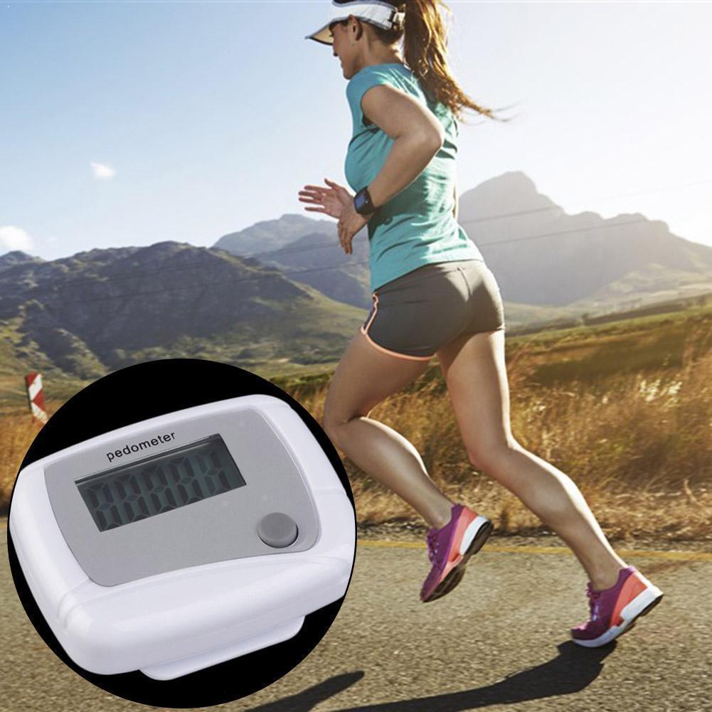 Шагомер с ЖК-дисплеем, шагомер, счетчик калорий, дизайн шага, цифровой зажим для расстояния запуска, мини карманный W2T7