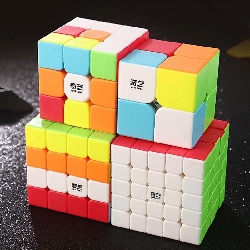 Магический куб QIYI Warrior 2x2x2 3x3x3 4x4x4 5x5 Cubo Magico Профессиональный антистресс скоростной куб обучающие игрушки для детей|Кубик головоломка|   | АлиЭкспресс