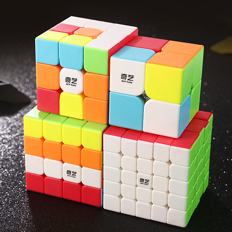 Qiyi guerreiro cubo mágico 2x2x2 3x3x3 4x4x4 5x5x5 cubo mágico profisional antiestresse velocidade cubo aprender brinquedos educativos para crianças
