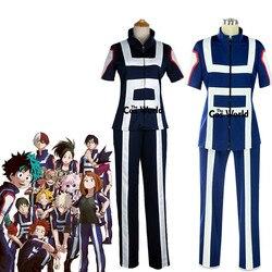 Boku nenhum herói academia meu herói academia todos os papéis ginásio terno uniforme da escola alta esportes vestir roupa anime cosplay trajes
