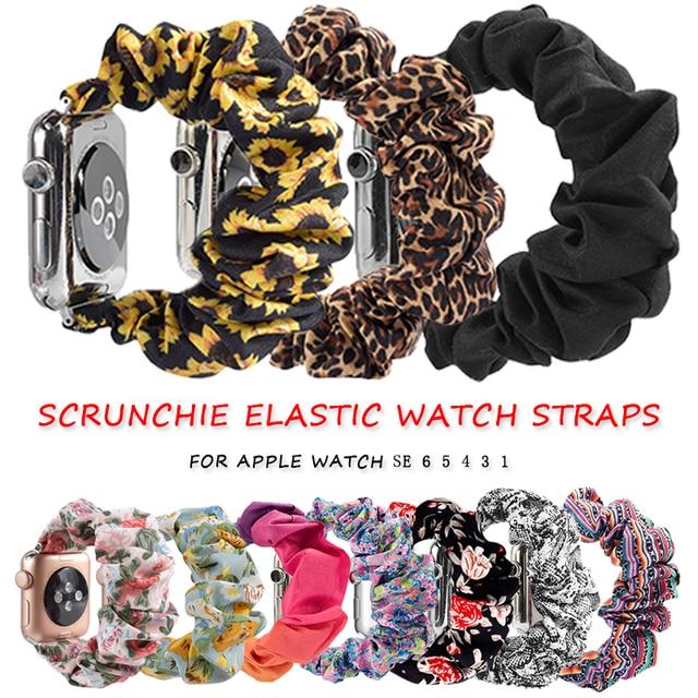 Scrunchie Elastic Watch Straps Watchband for Apple Watch Band Series 6 5 4 3 38mm 40mm 42mm 44mm for iwatch Strap Bracelet 6 5 4 1