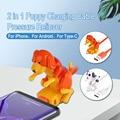 Кабель для быстрой зарядки Grappige Humping Dog, зарядный кабель для iPhone, Android, зарядный кабель для смартфонов