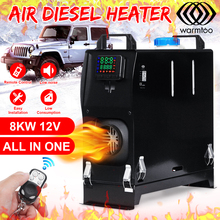 8000W 12V All in one Diesel Air Heater Digital LCD Monitor Car Air Conditioner Car Heater Defrost +Remote Control for Car Bus