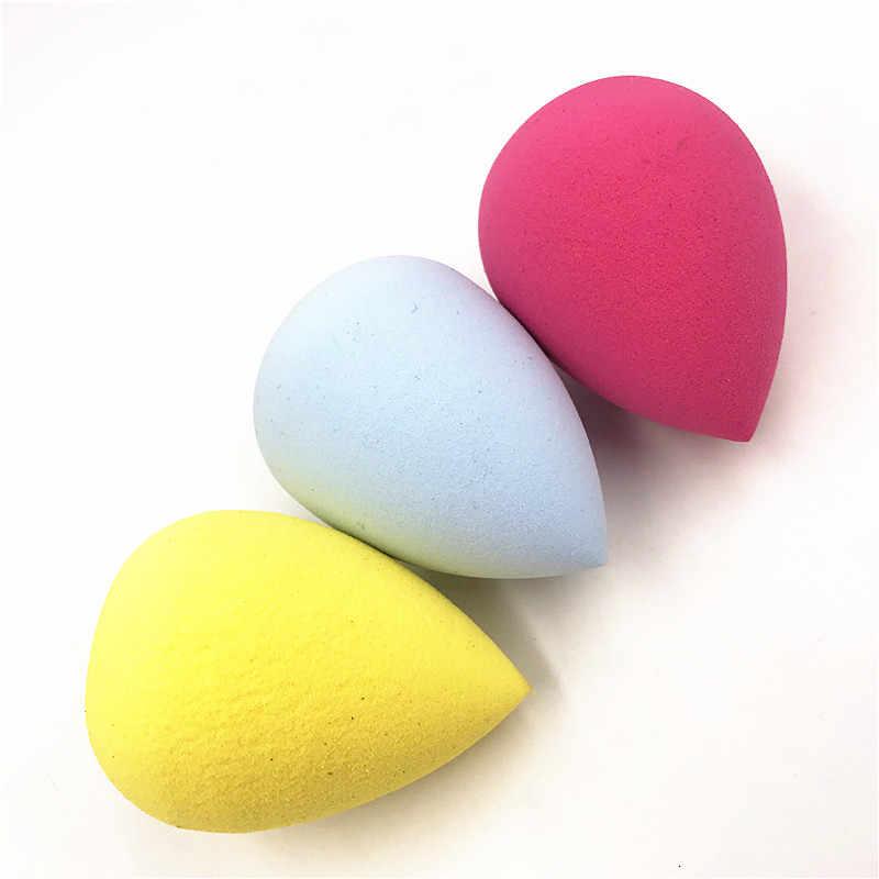 1 adet pürüzsüz kozmetik puf kuru islak kullanım fondoten sünger güzellik yüz bakım araçları aksesuarları su damlası şekli maquillaje