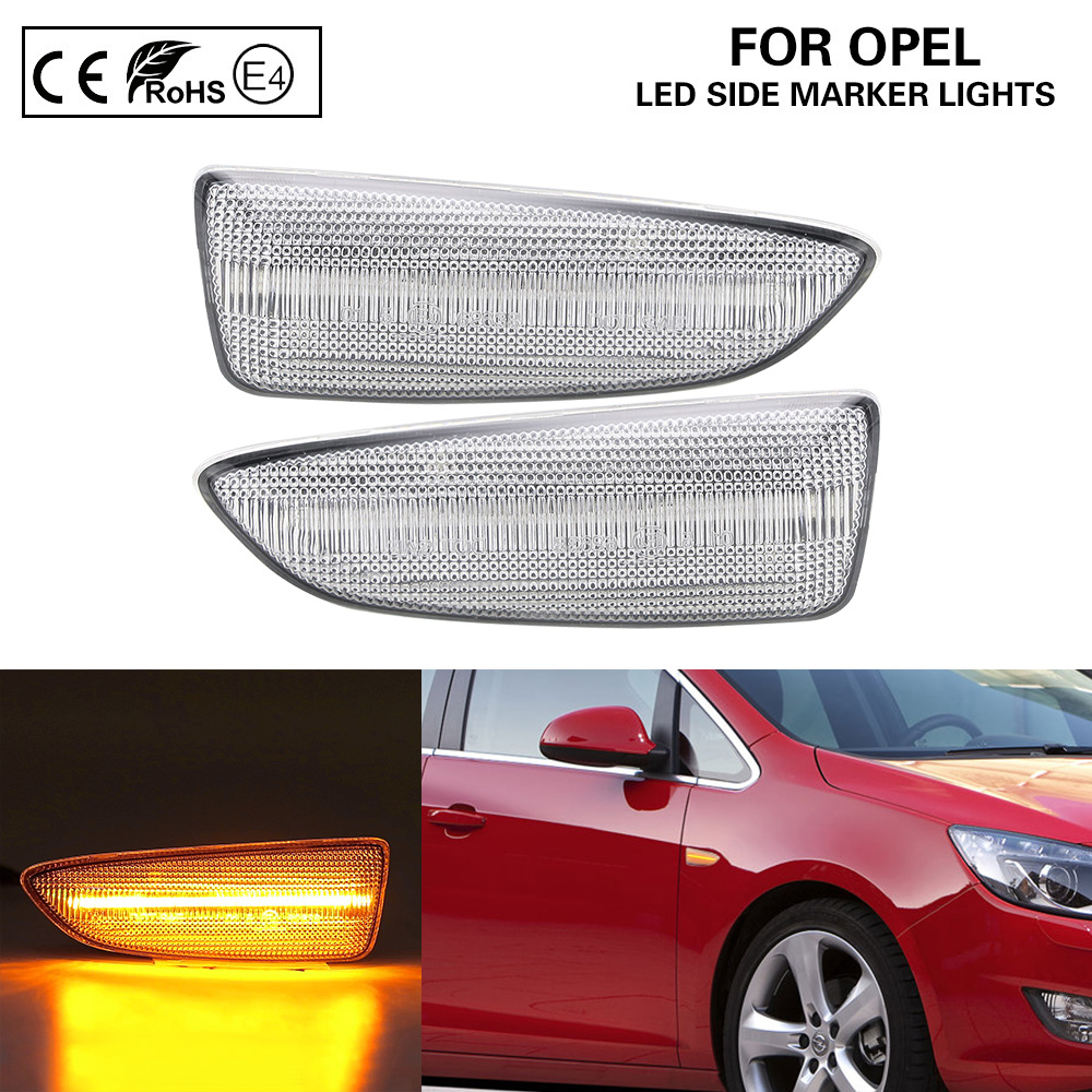 LED Side Repeater Indicators Light For Opel Vauxhall Astra J K Insignia Zafira C