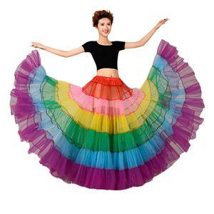 Image 1 - צבעוני תחתונית ללא עצמות שמלת כלה תחתוניות גדול מטוטלת ריקוד רשת טוטו חצאיות קרינולינה כלה תחתונית רוקבילי