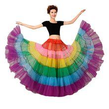 สีสัน Petticoat ไม่มีกระดูกงานแต่งงานชุดกระโปรงลูกตุ้มขนาดใหญ่เต้นรำตาข่าย Tutu กระโปรง Crinoline เจ้าสาว Petticoat Rockabilly