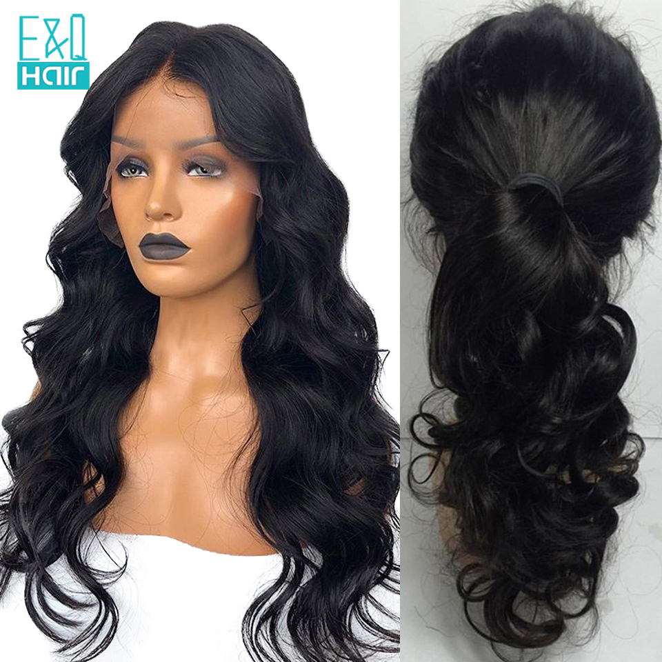 Glueless Lace Front Human Hair Wigs With Baby Hair Brazilian Remy Hair Body Wave 13x6 Lace Front Wig For Black Women Pre Plucked
