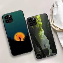 3D Emboss Mountain Phone Case For iphone 5s 6 7 8 11 12 plus xsmax xr pro mini se Cover Fundas Coque