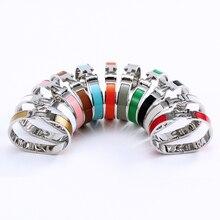 Classic stainless steel bracelet For Women Men 2021 titanium steel bracelets luxury enamel bangle couple bangles 12mm