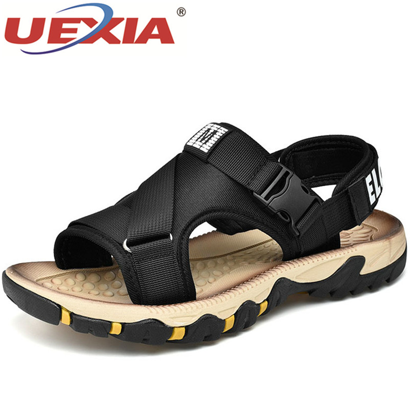 Fashion Summer Comfortable Men Sandals High-quality Stretch Fabric Classic Soft Fashion Sneakers Footwear Beach Shoes Size 39-47