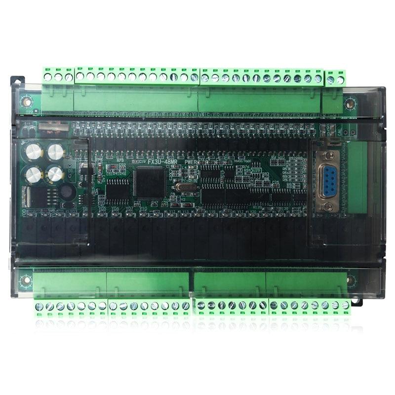 PLC программируемый логический контроллер FX3U 48MR промышленный контрольный транзистор выход DC24V|Контроллер с ЧПУ|   | АлиЭкспресс