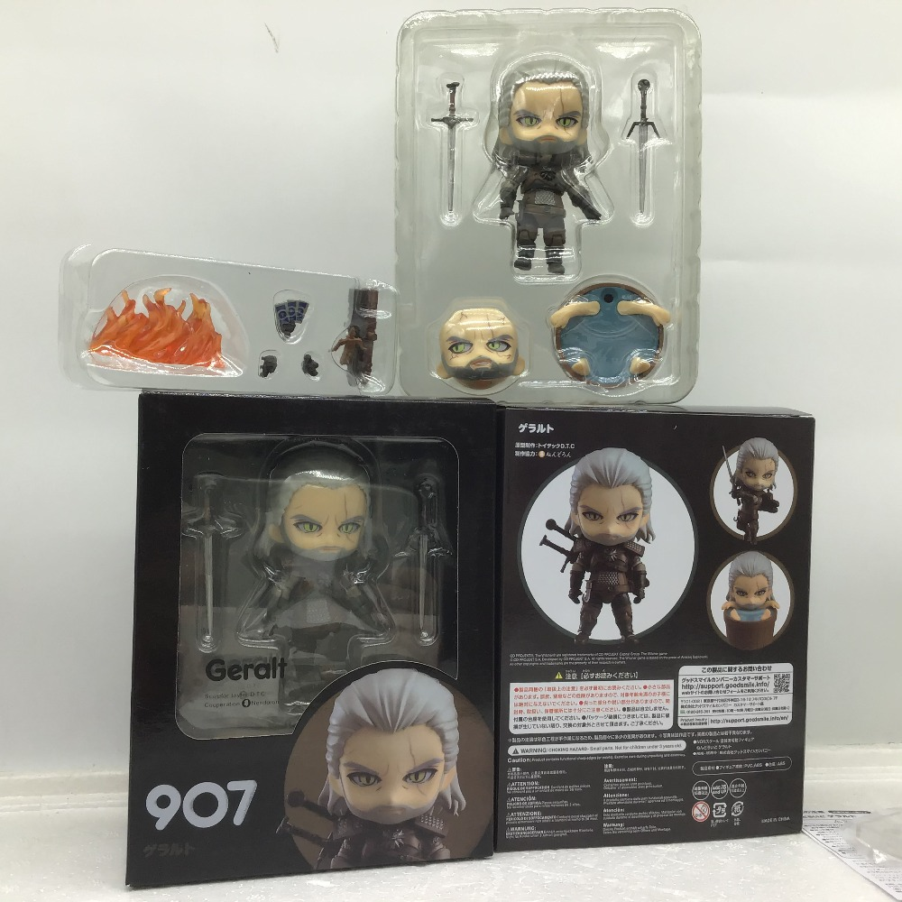 Nendoroid 907 The Witcher 3 Wild Hun Geralt of Rivia Action Figure 10cm NoBox