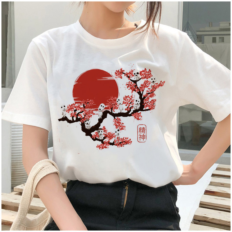 Totoro Spirit Away T Shirt Studio Ghibli Femme Japanese Cartoon Anime Women Tshirt T-shirt Miyazaki Hayao Clothes Female Kawaii