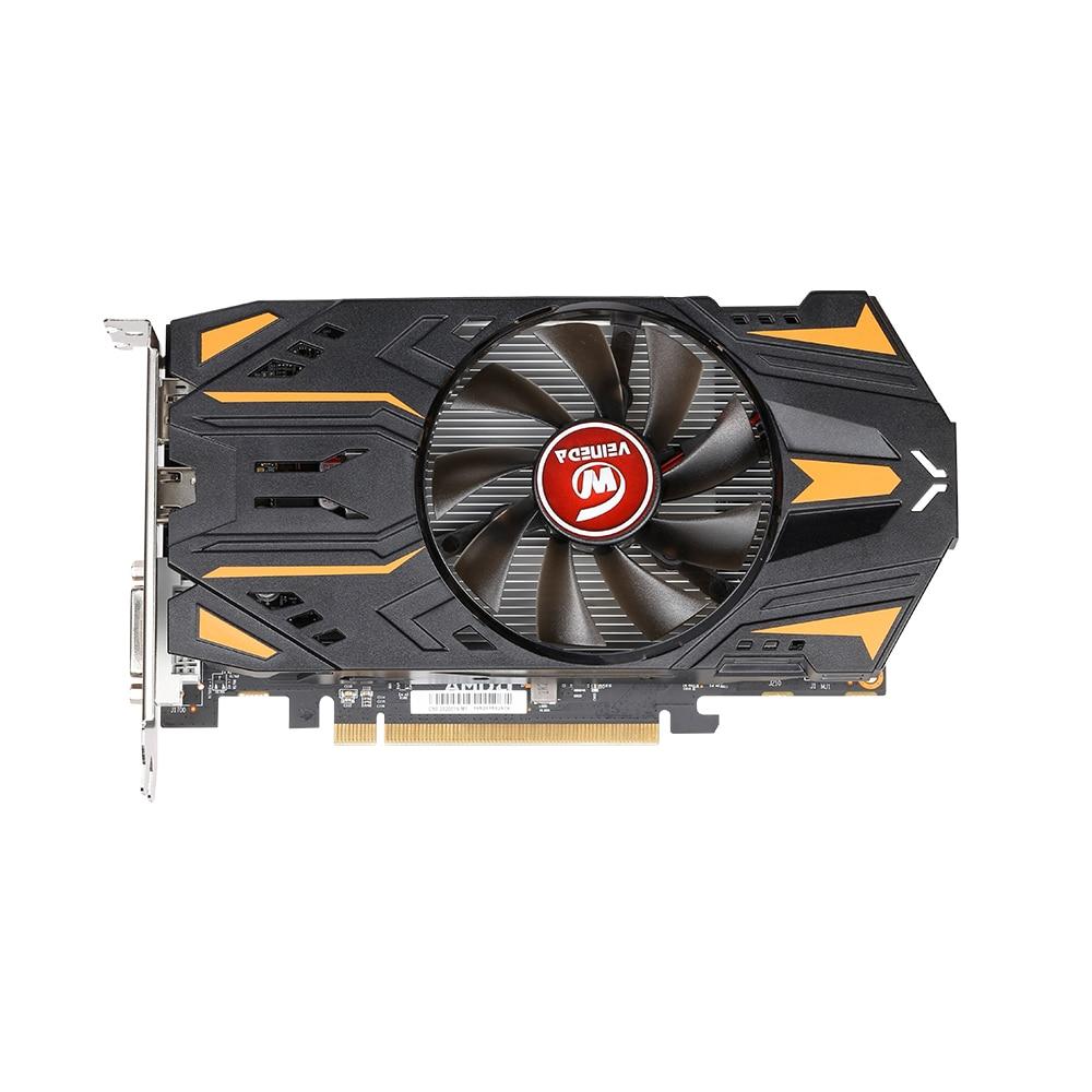 Видеокарты VEINEDA RX550 4 ГБ GDDR5 128bit GPU для AMD Radeon rx 550 series, видеокарта для настольных ПК, видеоигр