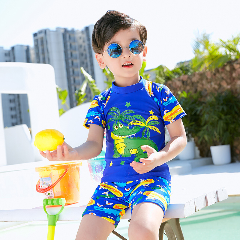 2019 New Style Small Crocodile Children Two-piece Swimsuits