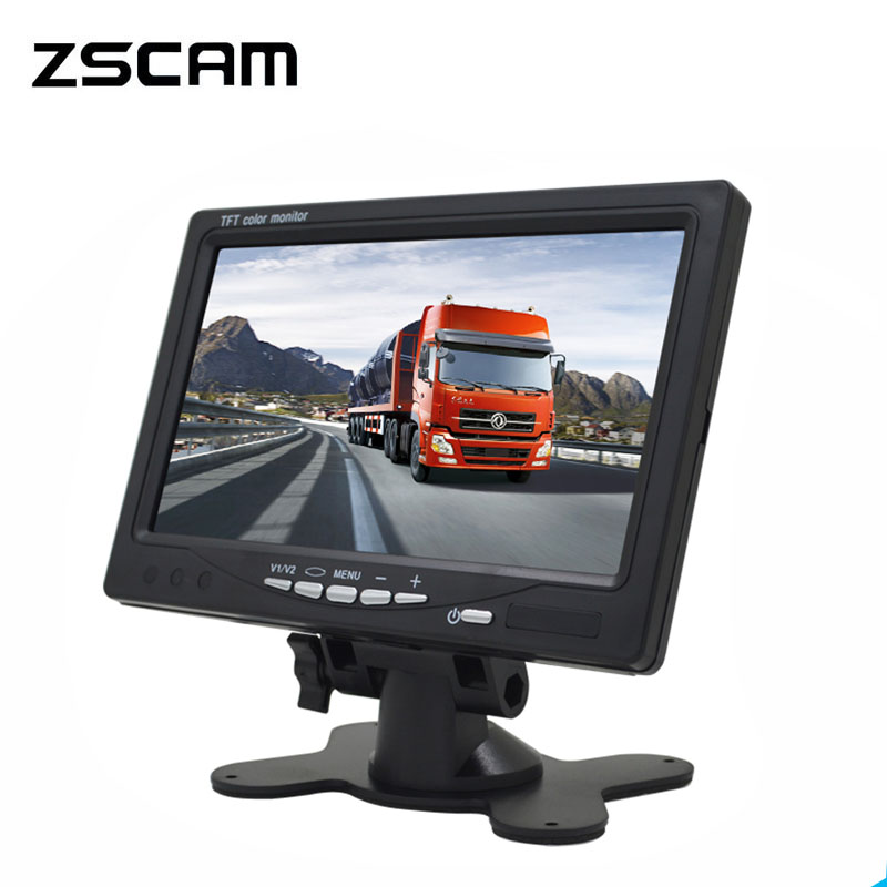 ZSCAM Mini Digital 1024*600 7 Inchs LCD Test Monitor CCTV Surveillance Camera AHD/Analog Security IPS Monitor For Video Camera|CCTV Monitor & Display| - AliExpress