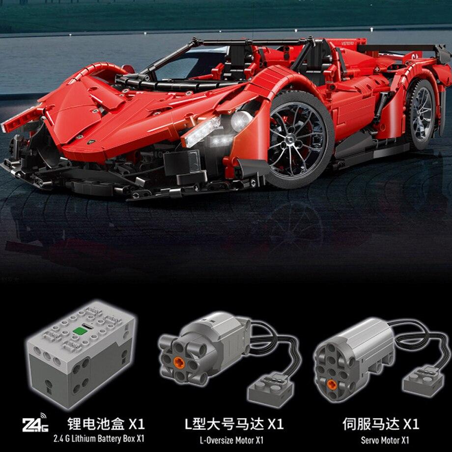 13079 poison RC Car MOC 10559 Veneno Roadster Motor Power Functions Fit App for legoing Technic Building Blocks Bricks Toys Gift 19