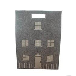 Ins szwajcarski styl zabawki dom worek do przechowywania wełna filcowa dekoracja domu na ubrania lalka i dziecięca bombka organizuj pudełko szare w Torby i kosze od Dom i ogród na