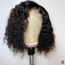 150% Short Deep Curly Lace Front Human Hair Wigs With Baby H