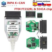 Inpa para bmw k + dcan interruptor ftdi ft232rl chip 9241a obd obd2 ferramenta de diagnóstico inpa k + pode usb scanner diagnóstico com interruptor