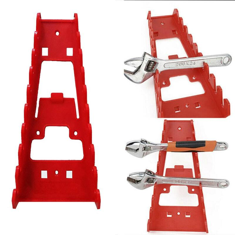 Wrench Spanner Tool Organizer Sorter Holder Wall Mounted Tool Storage Tray Socket Storage Rack Plastic Tools Home Organizer