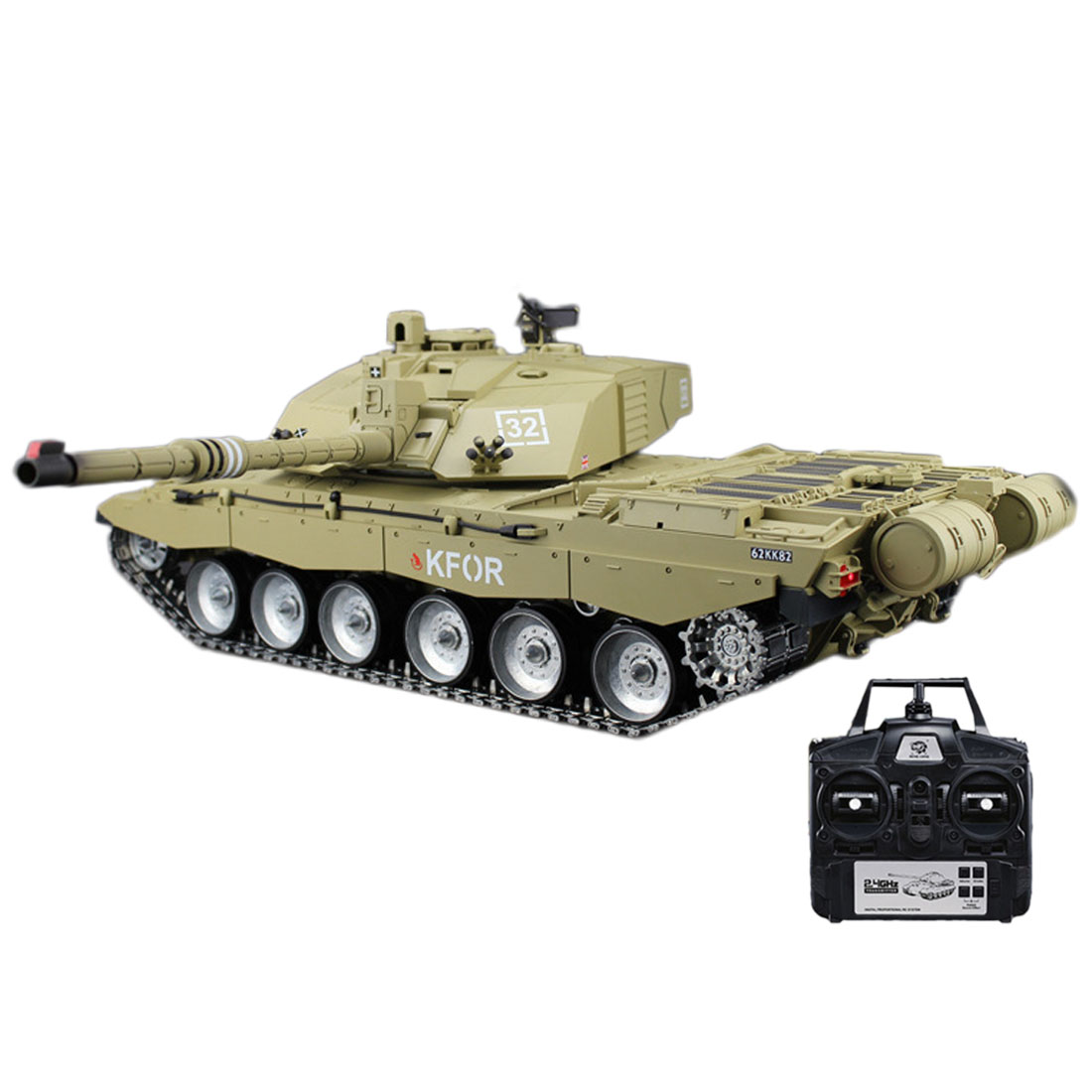 New 1:16 Main Battle Tank 2.4G Remote Control Model Military Tank With Sound Smoke Shooting Effect Metal Ultimate Edition image