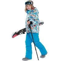Children winter Ski Suit Boys snowboard jackets waterproof windproof snow jacket outdoor warm breathable coat 20 30 degree