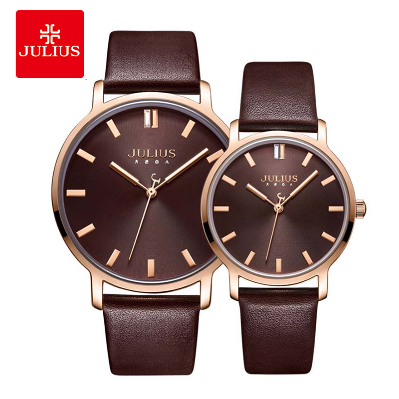 Simple Couple Watch Women Quartz Wristwatch Casual Fashion Leather Watch Men Reloj Pareja Hombre Y Mujer