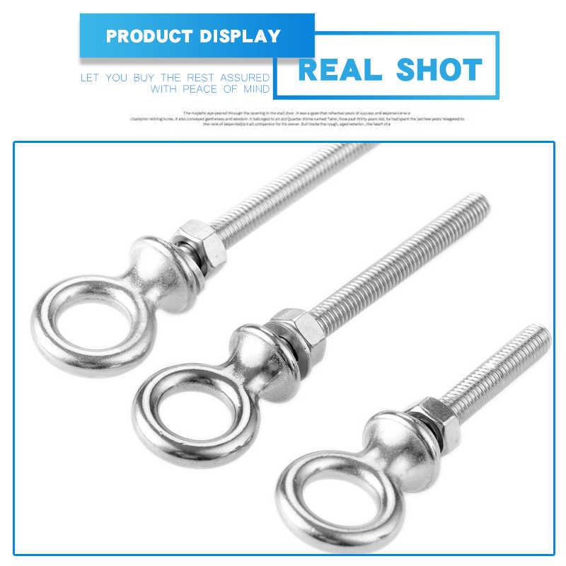 5pcs M6 Stainless Steel Lifting Eye Bolt Nut Ring Screws Bolts