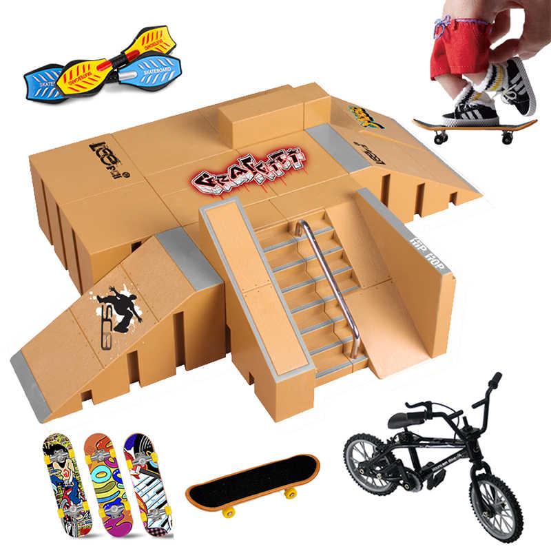 Vinger Skateboards Skate Ramp Onderdelen Set Speelgoed Vinger Bike Vingers Training Sport Toets Speelgoed Skate Park Ramp Speelgoed Voor Kinderen