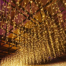YINUO LIGHT 3.5M 5M Christmas LED Curtain Icicle String Light Waterproof Fairy Xmas Garden Stage Outdoor Decoration