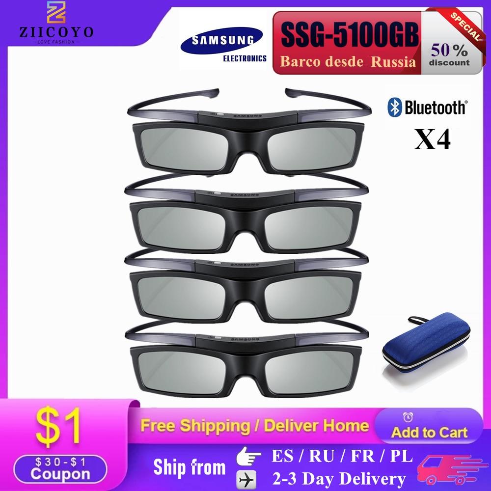 Официальный Оригинал 3D очки ssg-5100GB 3D Bluetooth активные аксессуары для глаз, солнцезащитные очки ssg5100 для всех моделей Samsung Sony epson 3D ТВ серии