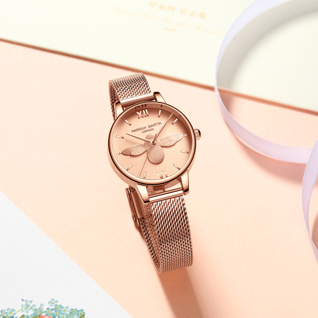 Women Watches Mesh Stainless Steel 3D design dial Japan Quartz Movement Top Brand Female Waterproof Wristwatch Clock Relogio 2