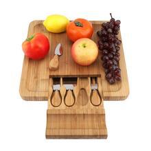 """במבוק גבינת לוח עם משולב מיוחד סכו""""ם חיתוך כלי תא גבינת לוח עם סכו""""ם כלי"""