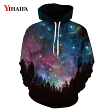 3D Hoodies Mens Womens Space Galaxy Forest Star Sweatshirt Graphic Pullover Tracksuit Couples Casual Coat Tops