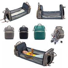 Портативный рюкзак для мамы вместительная многофункциональная