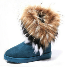 Warm Faux fur Women Snow Boots Cute Suede Winter Shoe Non-Slip Snow Casual Shoe Flat Boots Snowy Boots Women shoes все цены